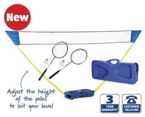 Badminton Set with Pop-Up Net from 22 June £19.99 at ALDI