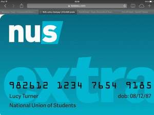 Nus card for everyone at £21 and free course @ wowcher