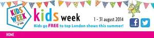 Kids week - kids go free to London Theatre with full paying Adult