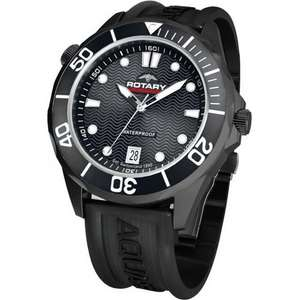 Rotary Aquaspeed with black rubber strap £35.81 Delivered Free @ Amazon