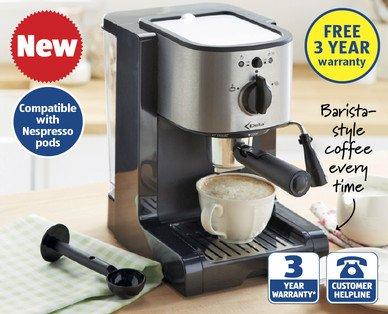 espresso machine £49.99  @ Aldi