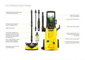 Karcher K4 Ecological Premium Water Cooled Pressure Washer +5yr Warranty £209.99 @ Amazon