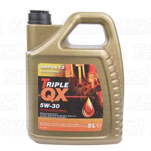 TRIPLE QX Engine Oil 5w30 Fully Synthetic Engine Oil 5Ltr + Free Oil Filter £13.65 @ EuroCarParts