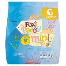Foxs Mini Party Rings 6Pk was £1.49 now 74p online & instore @ Tesco