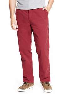 Pure Cotton Chinos (Red) £2.99 (£2.39 with 20% off today) @ Marks and Spencer