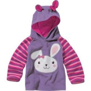 Chad Valley Girls' Purple Hooded Fleece upto 4 years 8.99 now 2.59 at argos