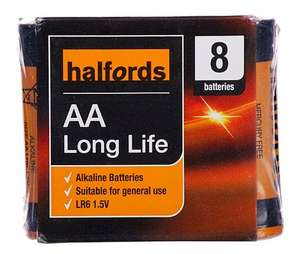 Halfords AA Alkaline Batteries x8 to collect in store £1
