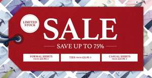 Upto 75% off sale @ Charles Tyrwhitt  + £10 off code + 10% Quidco