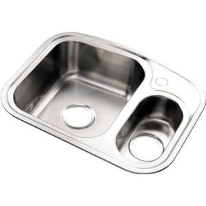 Sauber 1.5 Bowl Compact Stainless Steel Kitchen Sink £28.86 @ Plumbworld Daily Deals Free Delivery