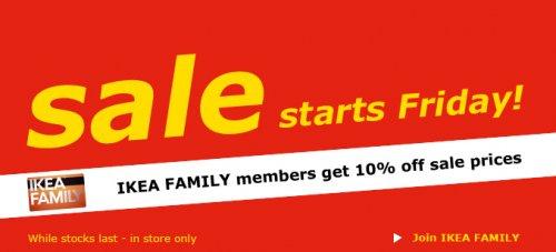 IKEA 10% off for IKEA Family members