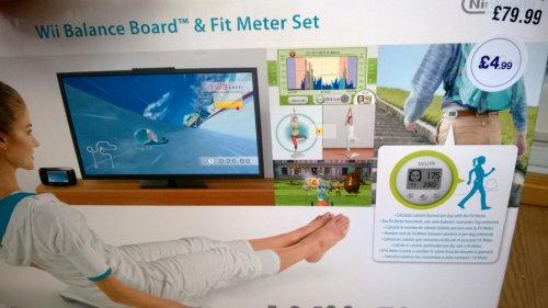 Wii Fit U Game + Balance Board + Fit meter  £4.99 @ HMV