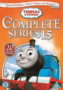 Thomas & Friends - Series 15 DVD - Preorder for £4 on Amazon (down from £12.99)    (free delivery £10 spend/prime/Amazon locker)