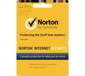 Norton Internet security £19 with code @ currys