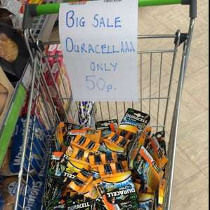 Duracell AAA batteries 50p at Co-op