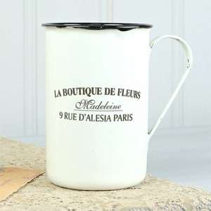 Vintage Parisian Cream Enamel Mug £3 delivered with free Delicates Link bracelet worth £9 @ Lisa Angel Jewellery