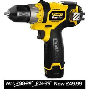 Stanley FatMax 10.8V Li-Ion Drill Driver FMC010LA £49.99 at Homebase