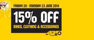 15% off at Edinburgh Bicycle Cooperative (inc. bikes, clothes and accessories)