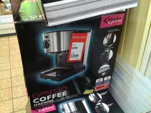 Espresso Coffee Machine. £29.99 instore @ ALDI (Spalding)
