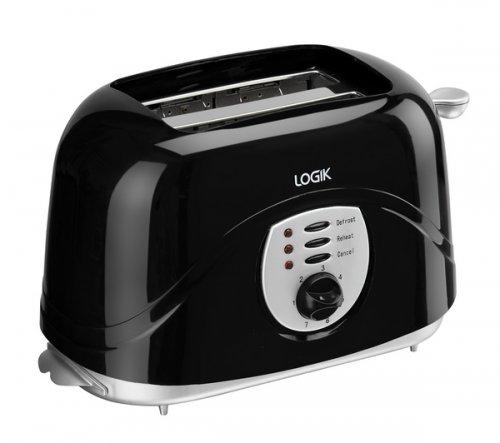 Logik L02TB13 2 Slice Black Toaster £4.99 + Free Delivery option @ Currys