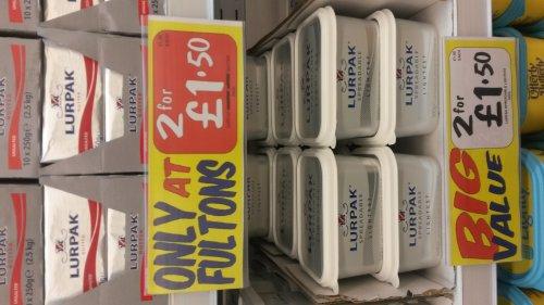 Lurpak 2 for £1.50 @ Fultons Foods