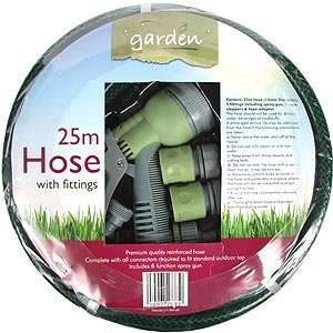 25m garden hose with all fittings  £7.99 @ Home Bargains