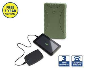 12000mAh Power Bank 3xUSB, or 7800mAh Rugged 2xUSB w/Torch £14.99 @ Aldi