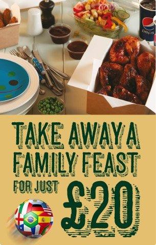 Harvester Takeaway World Cup Feast  £20 @ Harvester