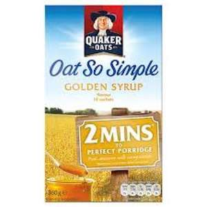 Quaker Oat So Simple Golden Syrup @ Home Bargains £1.69