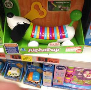 Leapfrog alpha pup for £11.32 at sainsburys