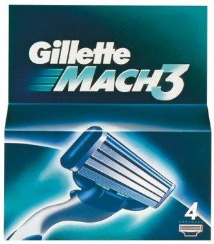 Gillette Mach 3 4 pack razor blades £5 @ Razors4u Amazon