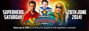 Lightwatervalley Superhero Saturday 28th June Only £14 Per Person If You Don't Mind Dressing Up As A Superhero!!