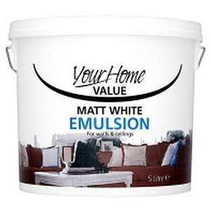 Matt White Emulsion Paint 5 Litres Only £3.50 @ Asda