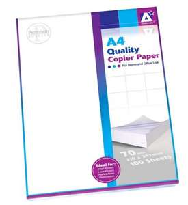 A4 white printing paper £1.80 + free delivery at Amazon sold by express goods