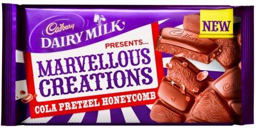 Cadbury's Marvellous Creations Cola Pretzel Honeycomb 200G TWO for £1.00 @ Poundland
