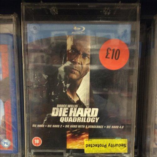 Die-Hard Quadrilogy Blu-Ray boxset £10.00 @ Sainsburys instore