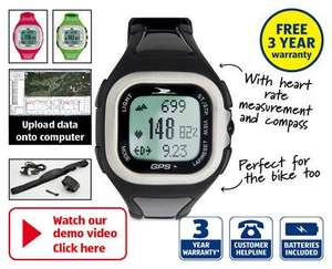 GPS Unisex Watch 3 year warranty £64.99 from 29th at Aldi