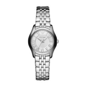 Emporio Armani Ladies Silver Valente Watch @ Watches2u £129.72 (using voucher code) (-£9.08 TCB) = £120.64