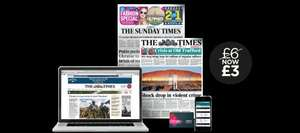 Times and Sunday Times Classic Pack - half price for 3 months £3.00/week