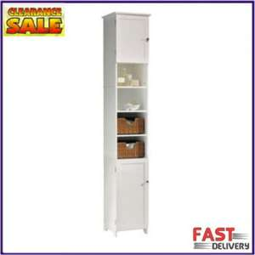 Living White Rattan Tower Storage Unit - Ebay/Argos Outlet - £31.94 Delivered