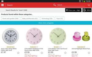 Argos ColourMatch Glass Clocks now £2.99