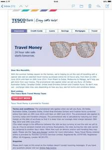 Tesco travel money rate sale starts 8am on 25/06/2014 1 day only