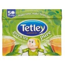 Tetley Green Tea (Pure, Decaff and Lemon) x 50 teabags, 2 packs for £2.00 @ Tesco