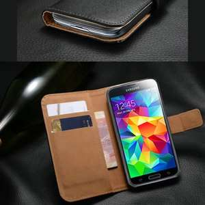 Samsung galaxy s5 leather case £1.99 @ ebay/londonmagicstore
