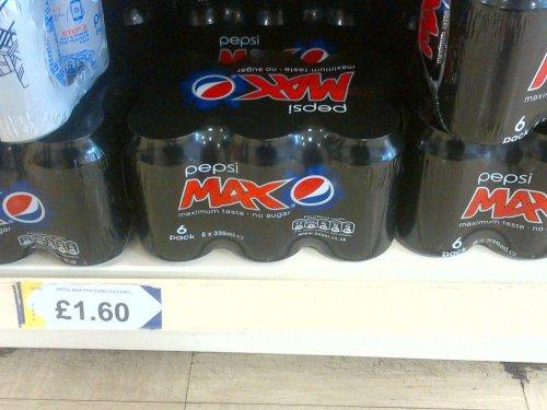 Pepsi Max 6 for £1.60 @ Heron Foods