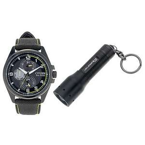 Citizen Eco Drive Men's Black Watch & LED Lenser Torch £77.99 from H. Samuel