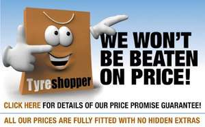 Very competitive Tyre prices online with the Lifetime Guarantee deal- Bridgestone T001 - 205/55VR16  £74.30 @ Tyre-Shopper
