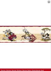 Disney Mickey Mouse Retro Wallpaper Border £1.00 roll from Linenstore-uk (+£3.45 Delivery)