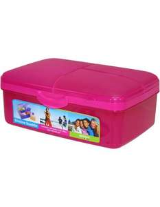 ** Sistema Quaddie Pink Slimline Lunch Box £1.25 @ Asda Direct **