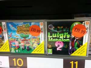 luigis mansion 2 or Animal Crossing new leaf 3DS £19.99 in store @ Sainsburys