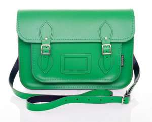 Zatchels Green Leather satchel £48.99 delivered
